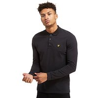 Lyle & Scott Long Sleeve Polo Shirt - Black - Mens