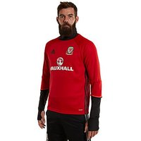 adidas Wales 2016/17 Training Top - Red - Mens