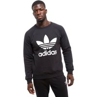 adidas Originals Trefoil Crew Sweatshirt - Black - Mens, Black