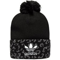 adidas Originals Leopard Pom Beanie - Black/Grey - Womens