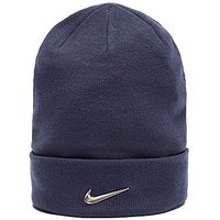 Nike Swoosh Beanie Hat - Obsidian/Silver - Womens
