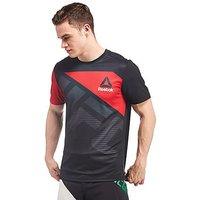 Reebok Blank UFC T-Shirt - Black/Red - Mens
