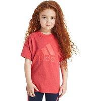 adidas Girls Logo T-Shirt Children - Core Pink Melange - Kids