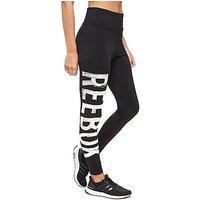 Reebok High Waisted Leggings - Black/White - Womens