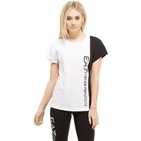 Emporio Armani EA7 Panel T-Shirt - White/Black - Womens