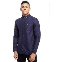 Lyle & Scott Oxford Long Sleeve Shirt - Navy - Mens