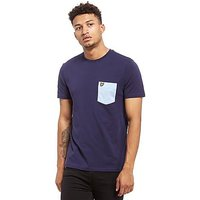 Lyle & Scott Contrast Pocket T-Shirt - Navy/Light Blue Marl - Mens