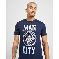 Official Team Manchester City F.C Block T-Shirt - Navy - Mens