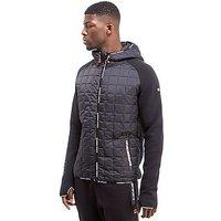 Superdry Sport Gym Tech Hybrid Zip Hooded Jacket - Black - Mens