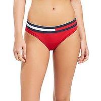 Tommy Hilfiger Tape Bikini Bottoms - Red - Womens