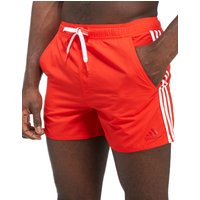 adidas 3-Stripe Swim Shorts - red - Mens, red