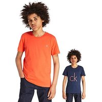 Calvin Klein T-Shirt Two Pack Junior - Blue/Orange - Kids