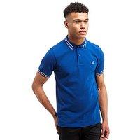 Fred Perry Tramline Polo Shirt - Blue/White - Mens