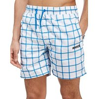 McKenzie Birch Swim Shorts - White/Blue - Mens