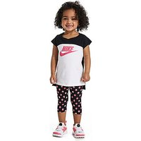 Nike Girls T-Shirt and Leggings Set Infants - Black/White/Pink - Kids