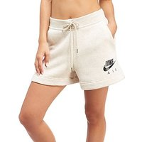 Nike Air Fleece Shorts - Oat/Black - Womens