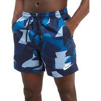 Nike Camo Swim Shorts - Blue - Mens, Blue
