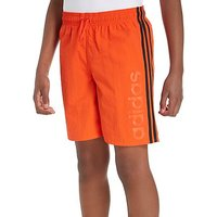 adidas Linear Swim Shorts Junior - Orange/Black - Kids