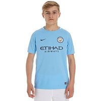 Nike Manchester City 2017/18 Home Shirt Junior - Blue - Kids