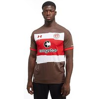 Under Armour St Pauli FC 2017/18 Home Shirt - Brown/Red and White - Mens