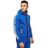 Superdry Gym Tech Zipped Hoody - blue/navy blue - Mens