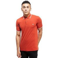 Fred Perry Twin Tipped Short Sleeve Polo Shirt - Red - Mens