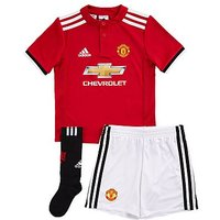 adidas Manchester United 2017/18 Home Kit Childen - Red - Kids