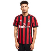 adidas AC Milan 2017/18 Home Shirt - Red/Black - Mens, Red/Black