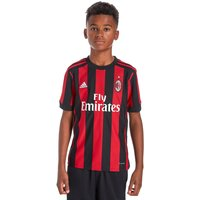 adidas AC Milan 2017/18 Home Shirt Junior - Red/Black - Kids, Red/Black