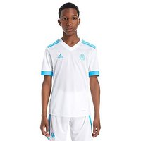 adidas Olympique Marseille 2017/18 Home Shirt Junior - White/Blue - Kids