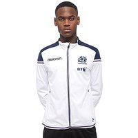 Macron Scotland Rugby Union Tracksuit Top - White/Blue - Mens