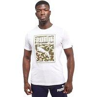 PUMA No. 1 Logo T-Shirt - White/Camo - Mens