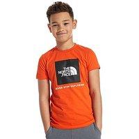 The North Face Box T-Shirt Junior - Orange/Black - Kids