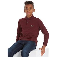 Lacoste Long Sleeve Sport Polo T-Shirt Children - Burgundy - Kids