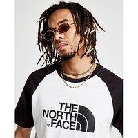 The North Face Raglan T-Shirt - White/Black - Mens