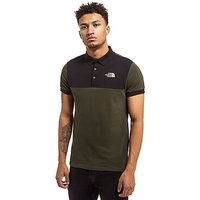 The North Face Colour Block Polo Shirt - Green/Black - Mens