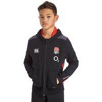 Canterbury RFU Full Zip Hoodie Junior - Black/Grey/Red - Kids
