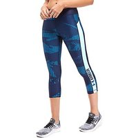 Under Armour Print Capri - Navy/Coral - Womens