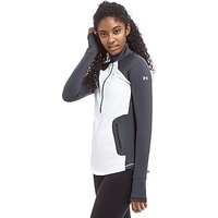 Under Armour ColdGear Reactor Half Zip Track Top - White/Grey - Womens