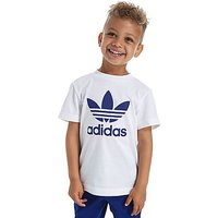 adidas Originals Trefoil T-Shirt Junior - White/Blue - Kids
