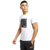 Emporio Armani EA7 Eagle Box Logo Short Sleeve T-Shirt - White - Mens