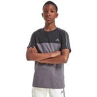 adidas Hybrid Colour Block T-Shirt Junior - Grey/Black - Kids