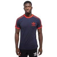 adidas Originals California Short Sleeve T-Shirt - Navy/Red - Mens