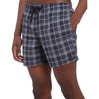 adidas 3 Stripe Check Swimming Shorts - Black/Dark Grey/White - Mens