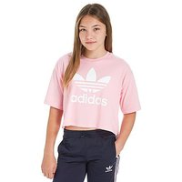adidas Originals Girls Trefoil Crop T-Shirt Junior - Pink/White - Kids
