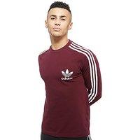 adidas Originals Long Sleeve California Pique T-Shirt - Maroon - Mens