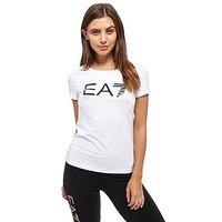 Emporio Armani EA7 Logo T-Shirt - White - Womens
