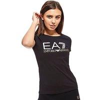 Emporio Armani EA7 Logo T-Shirt - bLACK - Womens