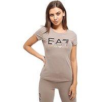 Emporio Armani EA7 Logo T-Shirt - Grey/Rose Gold - Womens