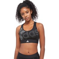 adidas Techfit Badge Logo Sports Bra - Black - Womens, Black